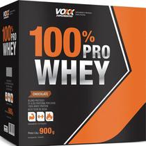 Combo: 3x de 100% Pro Whey Voxx Suplementos - Sabor Chocolate - 900gr - Cimed -