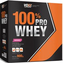 Combo: 3x de 100% Pro Whey Voxx Suplementos - Sabor Morango - 900gr - Cimed -