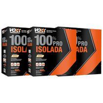 Combo: 3x de Whey 100% Pro Isolada - Sabor Baunilha - Voxx Suplementos - 900gr - Cimed -