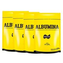 Combo - 4 Albumina Refil - 500g Natural - Naturovos -