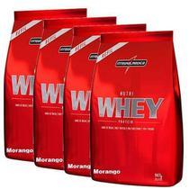 Combo 4 - Nutri Whey Protein - Refil Morango 907g - Integralmédica - Integral Médica