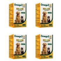 Combo 4 unidades Omega 3 Se 1100 - 30 Capsulas - Vetnil