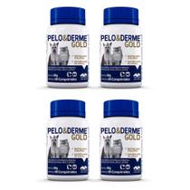 Combo 4 unidades Pelo e Derme Gold Suplemento Vetnil - 60 comprimidos -