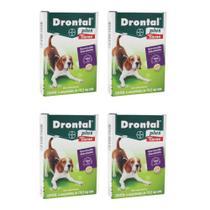 Combo 4 unidades Vermífugo Bayer Drontal Plus Sabor Carne - Cães 10 kg - 4 comprimidos -