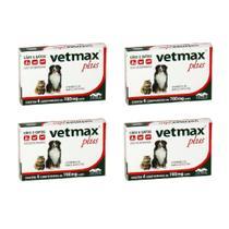 Combo 4un Vermífugo Vetmax Plus 4 Comprimidos Cada - Vetnil -