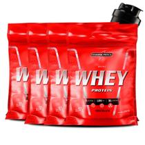 Combo 4x Nutri Whey Protein 907g + Coqueteleira Integralmedica - Integral Médica