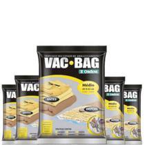 Combo: 5 Sacos a Vácuo Protetor VAC BAG 45 X 65 Ordene Médio -