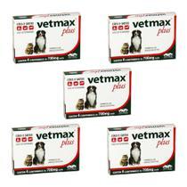 Combo 5un Vermífugo Vetmax Plus 4 Comprimidos Cada - Vetnil -