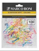 Combo 6 un de elastico soft para cabelo com 100 elastico cada colorido - Marco Boni