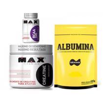 Combo Albumina + creatina +bcaa - Naturovos