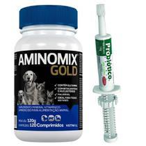 Combo Aminomix Gold 120cps + Probiotico 14g - Vetnil