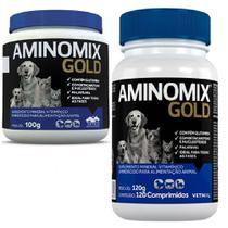 Combo Aminomix Gold 1un Pó 100g + 1un Gold 120cps - Vetnil -