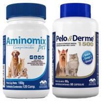 Combo Aminomix Pet 120 Cps + Pelo E Derme 1500mg - Vetnil