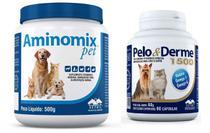 Combo Aminomix Pet 500g + Pelo E Derme 1500mg 60cps - Vetnil