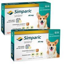 Combo Anti Pulgas Simparic 40 Mg 10, A 20 Kg 6 Comprimidos - Zoetis