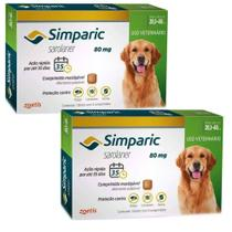 Combo Anti Pulgas Simparic 80 mg 20,1 A 40 Kg 6 Comprimidos - Zoetis