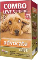 Combo Antipulgas Advocate Cães (2,5ML) 10 a 25KG - Bayer