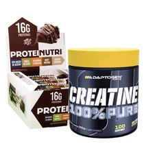 Combo Barra Protein Nutri 12un Health +Creatina 300g Adapto - Health + Adapto
