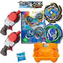 Combo Beyblade Burst Rise + 2 Mega Lançador Strike + Arena Beyblade Ris -