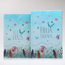 Combo Bíblia Capa Dura Jardim Secreto + Devocional Eu e Deus Jardim Secreto - Livro Cristão