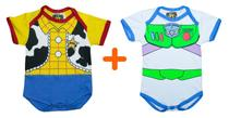 Combo Bodys Personagens Woody + Buzz Lightyear - Bebê