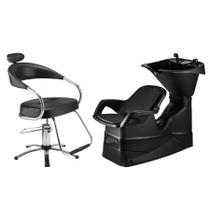Combo Cadeira Futura Hidráulica +lavatório Champ Reclinável Dompel -