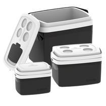 Combo Caixa Térmica 32 - 12 - 5 Litros Cooler Alimentos Bebidas - Soprano -