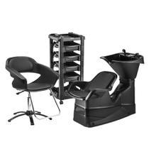Combo Champ reclinável+ cadeira Manual Primma Sem Apoio de Cabeça e Carrinho Vegas - DOMPEL