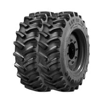 Combo com 2 Pneus 18.4/15.30 Firestone Super All Traction 23 SAT23 R1 10 Lonas Agrícola -