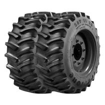 Combo com 2 Pneus 28L26 Firestone Super All Traction 23 SAT23 R1 14 Lonas Agrícola -