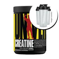 Combo Completo Universal - Creatina 200g + Coqueteleira - Universal Nutrition