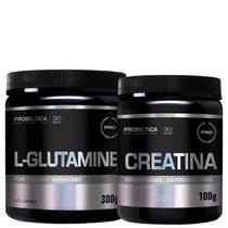 Combo Creatina 100gr + L- Glutamina 300G - Probiotica - Probiótica
