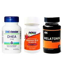 Combo Ddheä 25MG Life Ext + VIT D3 Now  + Melatönïnä  3MG ON - Life extension + now foods +on