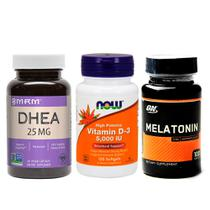 Combo Ddheä 25MG MRM + Melatönïnä  3MG ON + VIT D3 Now Foods - Mrm + on + now foods