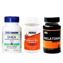 Combo Ddheä 50MG Life Ext + VIT D3 Now F + Melatönïnä 3MG ON - Life extension + now foods +on