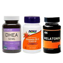 Combo DdHEÄ 50mg MrM + Melatönïnä 3MG ON+ VIT D3  Now Foods - Now foods +  optimum nutrition