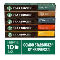Combo de Cafés Starbucks by Nespresso - 50 cápsulas - Nescafé Dolce Gusto