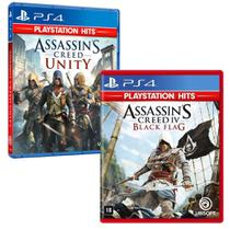 Combo de Jogos PS4 - Assassin's Creed Unity + Assassin's Creed IV Black Flag - Ubisoft
