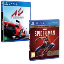 Combo de Jogos PS4 - Marvel's Spider Man GOTY + Assetto Corsa - Sony