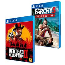 Combo de Jogos PS4 - Red Dead Redemption 2 + Far Cry 3 Classic Edition - Rockstar Games