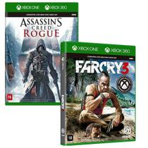 Combo de Jogos Xbox 360 e Xbox One - Assassin's Creed Rogue + Far Cry 3 - Ubisoft