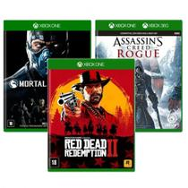 Combo de Jogos Xbox One - Assassin's Creed Rogue + Mortal Kombat XL + Red Dead Redemption 2 - Ubisoft