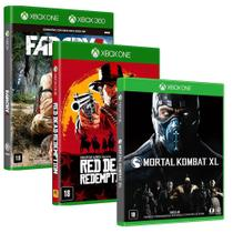 Combo de Jogos Xbox One - Mortal Kombat XL + Red Dead Redemption 2 + Far Cry 3 - Warner