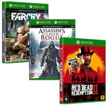Combo de Jogos Xbox One - Red Dead Redemption 2 + Assassin's Creed Rogue + Far Cry 3 - Rockstar Games