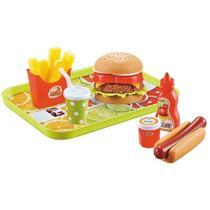 Combo de Lanche Hambúrguer de Brinquedo - Mini Chef - Xalingo -