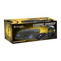 Combo Gamer Teclado Mouse e Fone Headset 555 Bright -