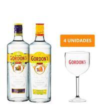 Combo Gin Gordon's + Gordon's Elderflower + 4 Taças Gordon's - Gordons