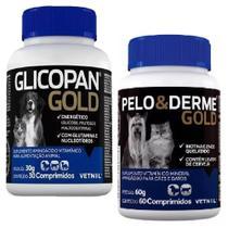 Combo Glicopan Gold 30cps + Pelo E Derme Gold 60 Comprimidos - Vetnil