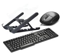 Combo Home Office - Suporte Notebook, Teclado E Mouse com fio USB - Masticmol e Multilaser