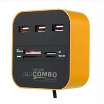 Combo Hub 7 Em 1 Com 3 Portas Usb + Leitores De Cartão Sd - Mxt